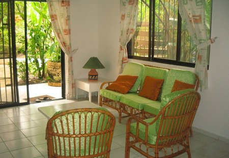 Apartment in CABARETE, Dominican Republic: Living area looking out