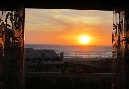Penthouse Apartment in Madalena, Portugal: Sunset in the Living-Dining Room. Incredible Sunsets Aw..