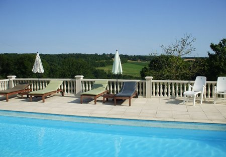 Cottage in Teyjat, France: Spectacular Pool View