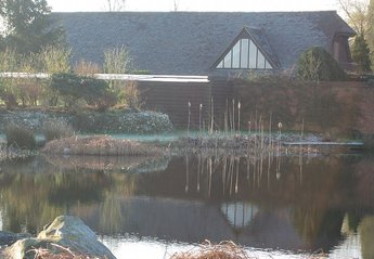 Cottage in Downs West, England: Swimming lake and cottages