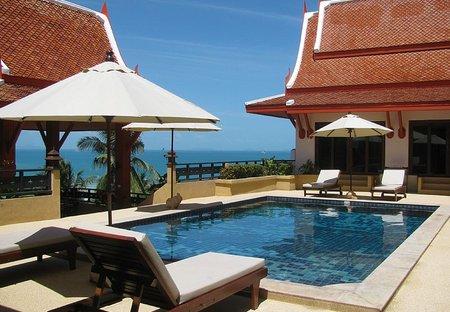 Villa in Nathon, Koh Samui: View of Pool deck & Bedrooms 1-2