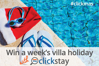 Win a week in an incredible Clickstay villa